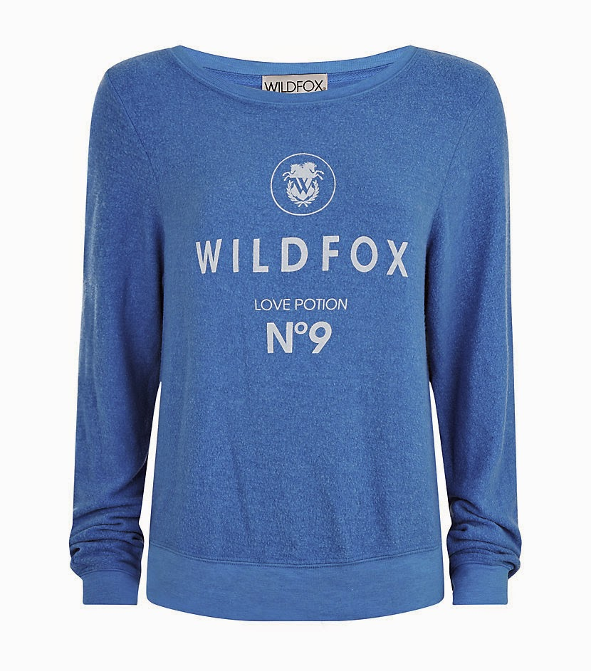 blue wildfox sweater