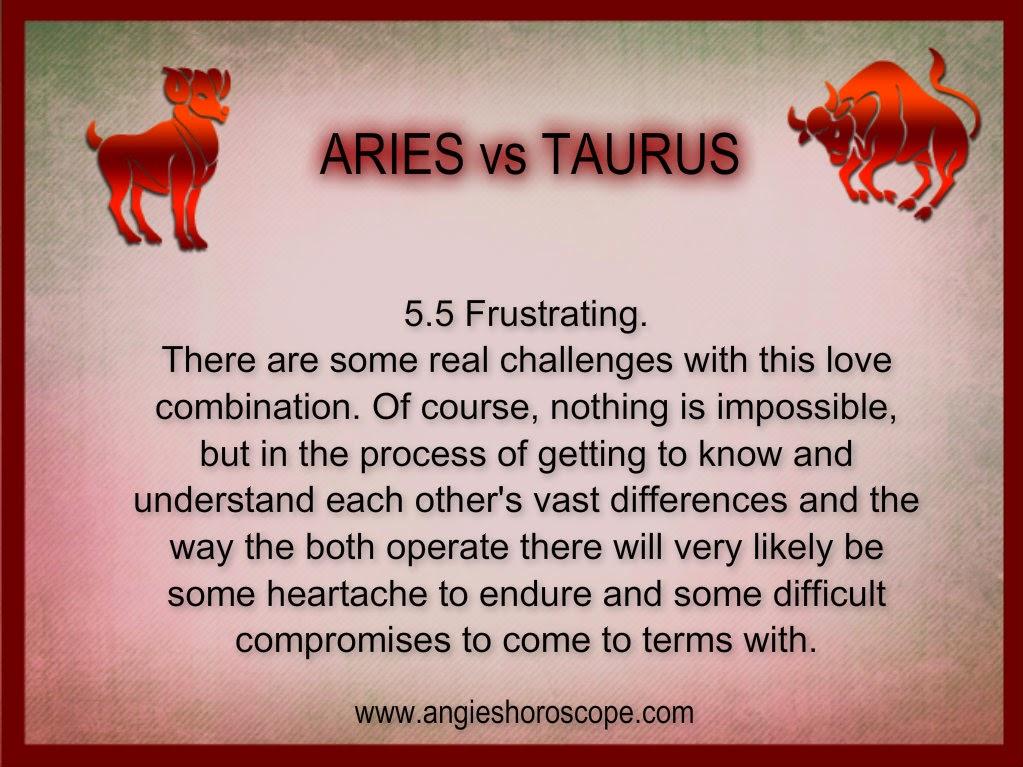 Aries woman and taurus man