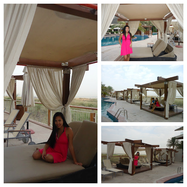 Cabana's at Raddison Blu Hotel Yas Island Abu Dhabi