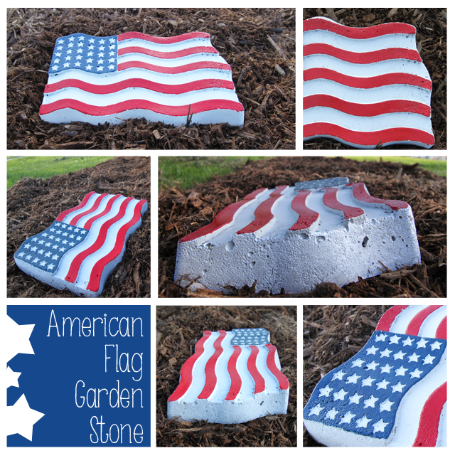American-Flag-Garden-Stone-Collage-DIY