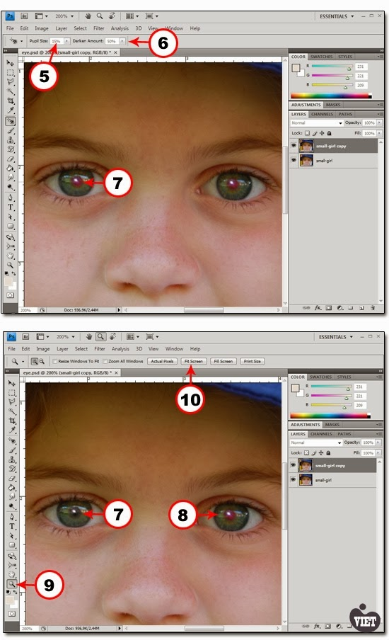 Как сделать ярче глаза на вшопе