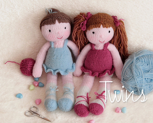 Knitting Pattern Ballerina Doll : Knitted Toys