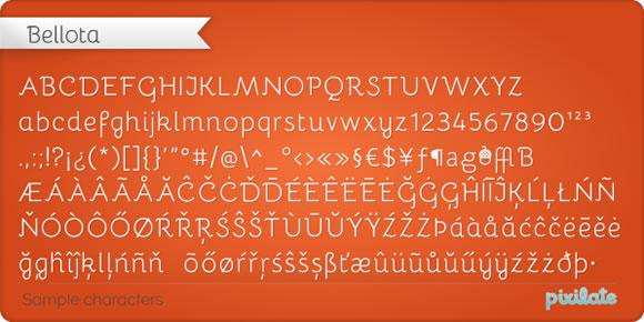 Free Font - Bellota