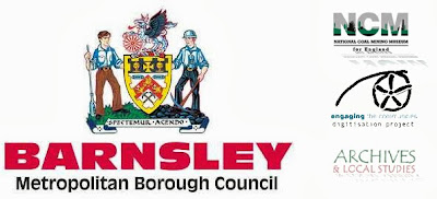 The Barnsley Council logo, coat of arms and text, photoshopped with the National Mining Museum logo, the Engaging the Communities logo and the Archives and Local Studies logo - all meant to represent the institutions behind Yococo