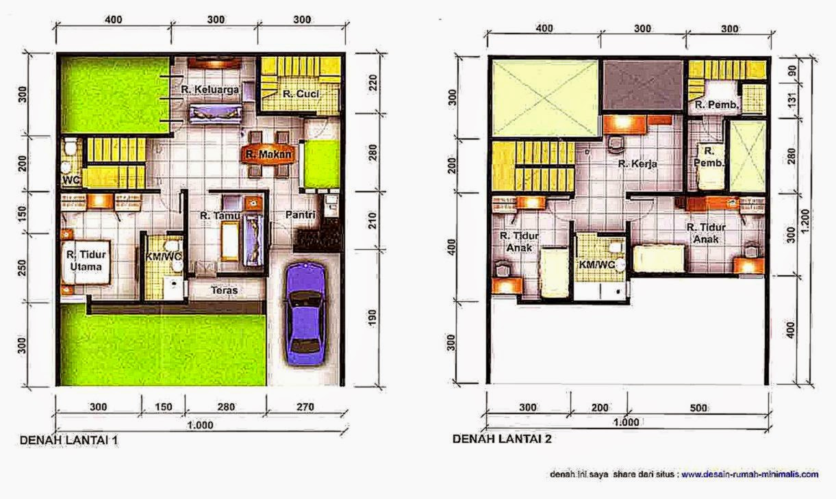 Denah Rumah Minimalis Modern   Desain Rumah Minimalis 2014