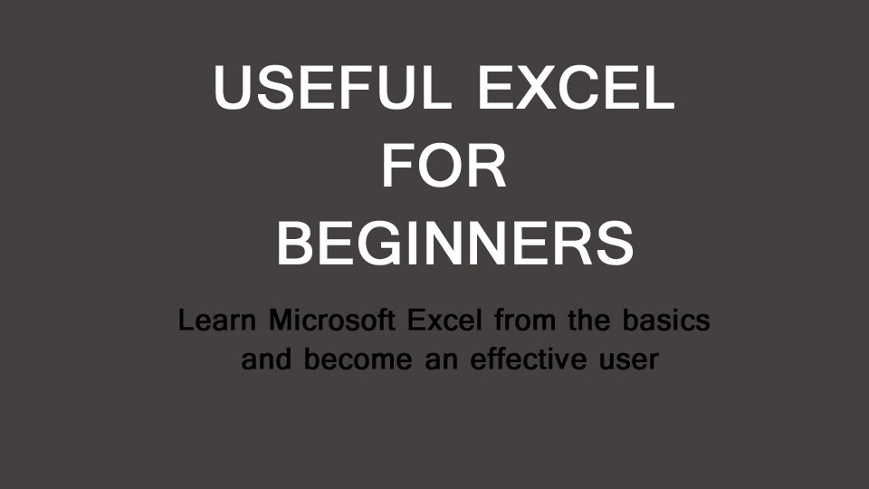 Want to learn Excel?