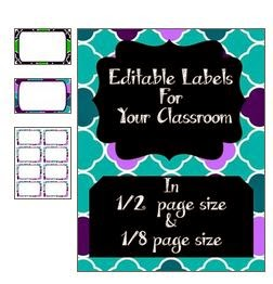 http://www.teacherspayteachers.com/Product/Task-Card-Classroom-Label-Template-NavyLime-TealPurple-1359019