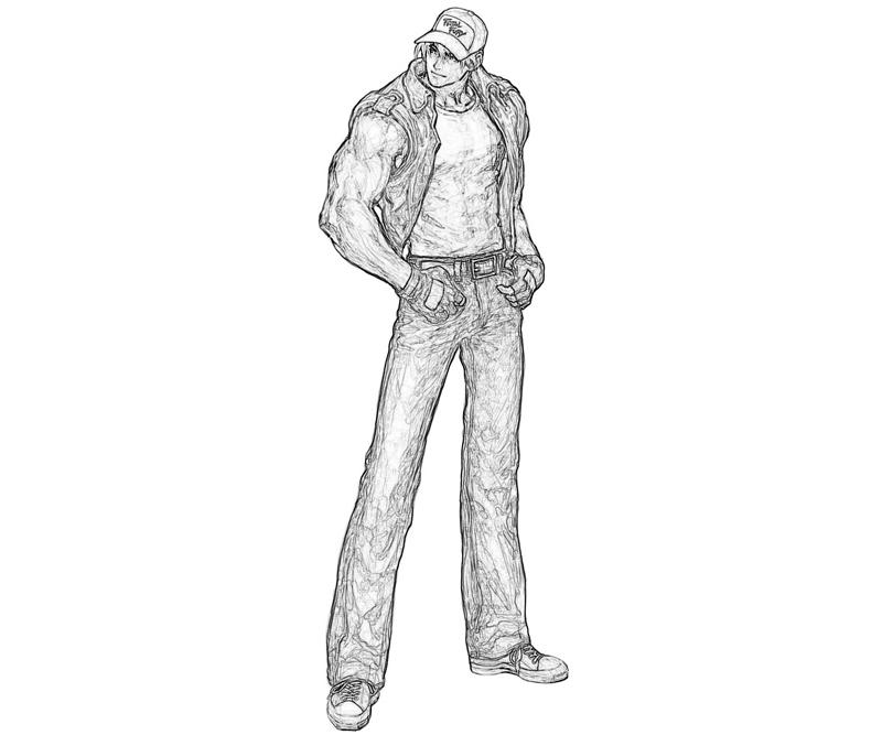 king-of-fighters-terry-bogard-look-coloring-pages