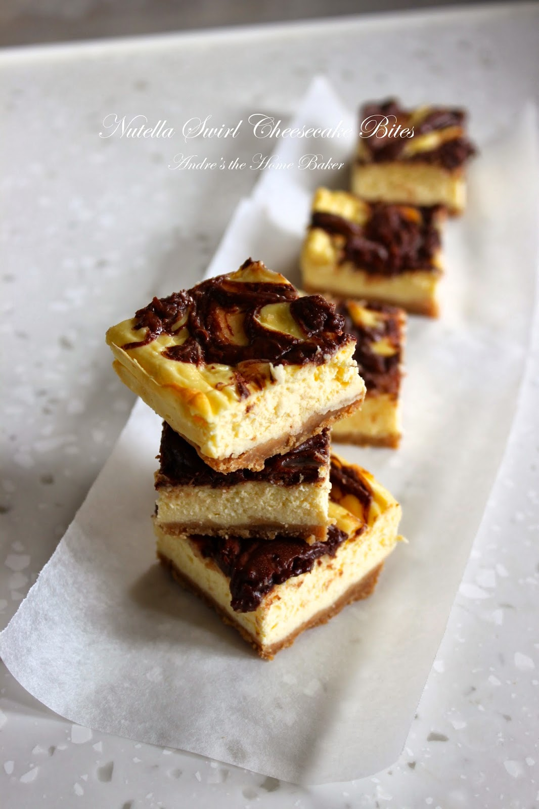 Andre's the Home Baker: ♥ Nutella Swirl Cheesecake Bites ♥