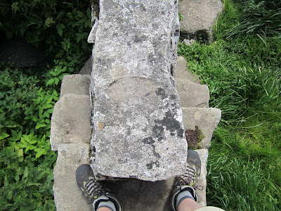 Stile, East of Orton – Looking Down from the Top Step to Both Sides
