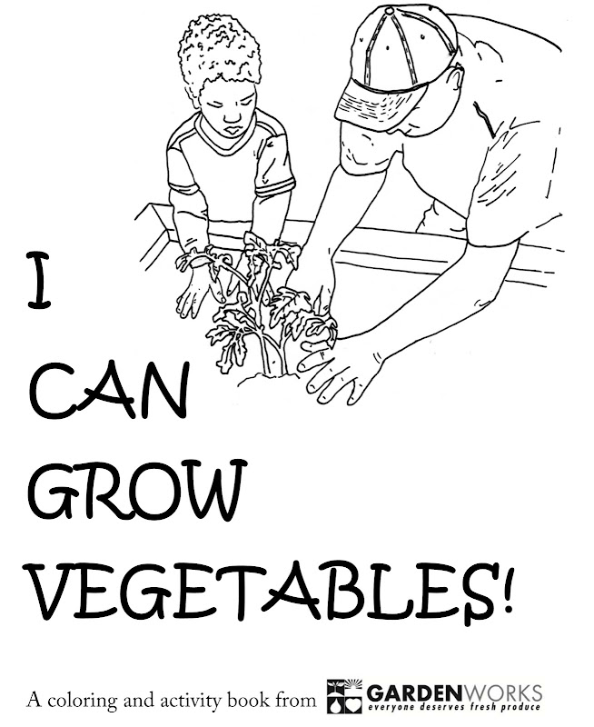 Can Grow Vegetables! A Coloring and Activity Book title=