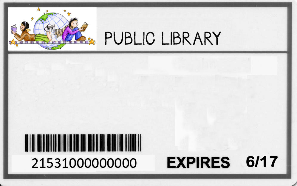 Library card template