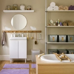 Modern furniture 2014 small bathrooms storage solutions ideas for Bathroom storage ideas b q