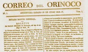 """BICENTENARIO DEL """"CORREO DEL ORINOCO"""""""