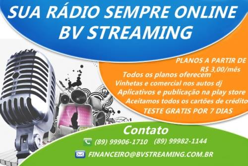 SUA RÁDIO SEMPRE ON LINE BV STREAMING