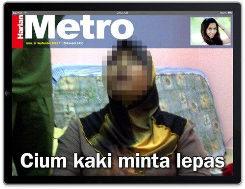 Wanita Hamil Curi RM4,023 Sujud Kaki Minta Maaf
