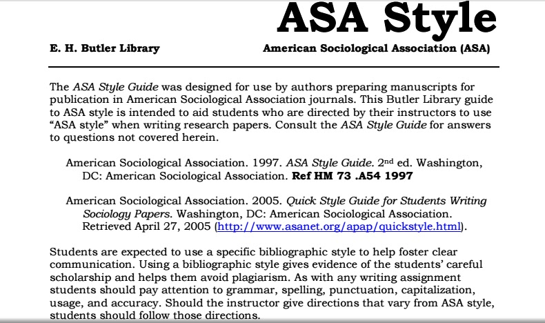 asa style format