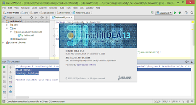 HelloWorld: JDK8 x IntelliJ IDEA 13