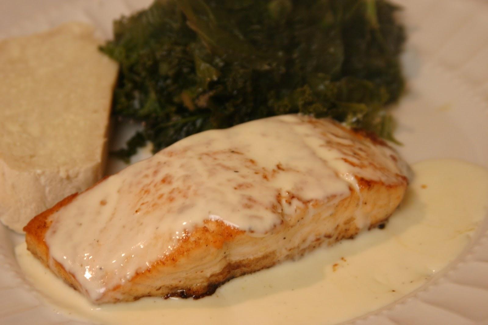 The Joy's of Kitchen Creations: Salmon with Lemon Cream Sauce