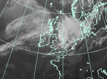 OPHELIAs Überreste kommen vor Norddeutschland an, Ophelia, Satellitenbild Satellitenbilder, Hurrikansaison 2011, Oktober, 2011, aktuell, Europa, Wettervorhersage Wetter,
