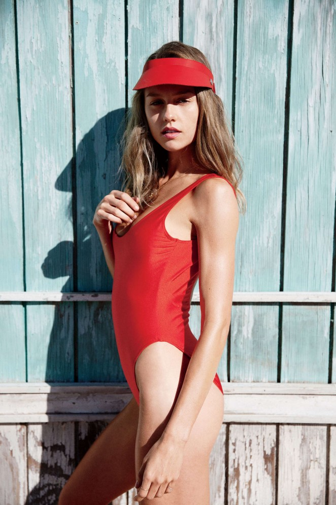 Isabelle Cornish poses in swim looks for Maxim April 2015