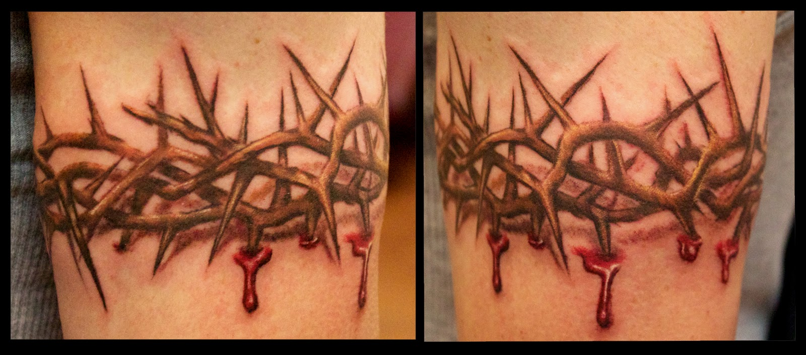 Arrows And Embers Custom Tattooing: Crown of Thorns Blood ...