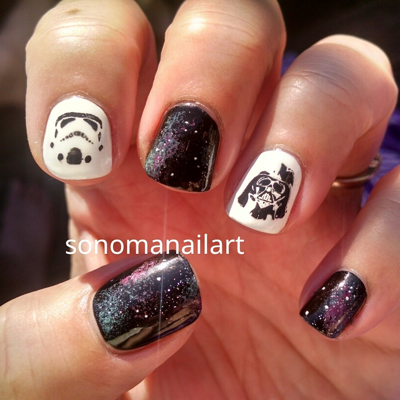 Sonoma nail art stamping challenge black and white nails prinsesfo Image collections
