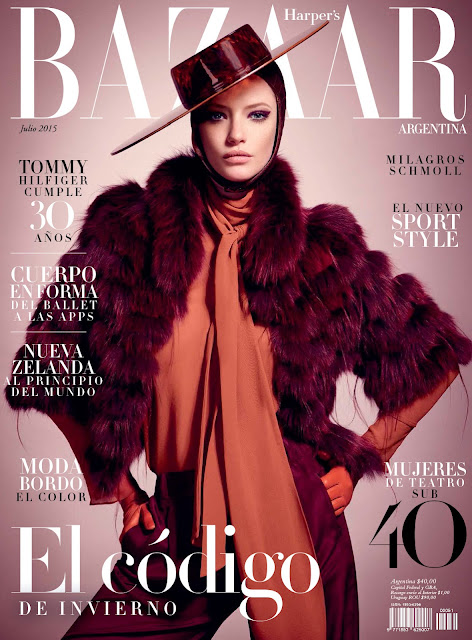 Fashion Model @ Milagros Schmoll by Luciana Val & Franco Musso for Harper's Bazaar Argentina, July 2015
