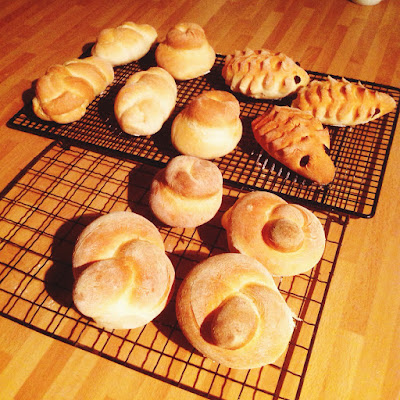 shaped bread rolls