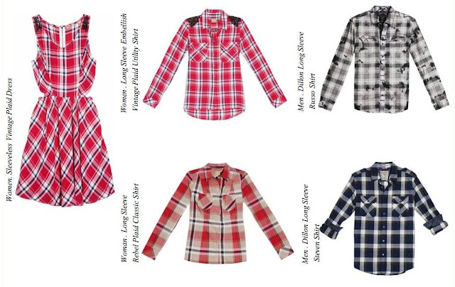 Guess Fall Winter 2013 Collection, Checkered Mix