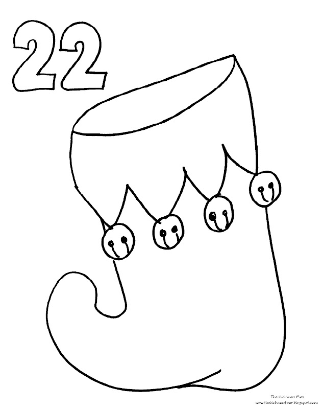 Coloring Page: Countdown to Christmas Part 5 title=