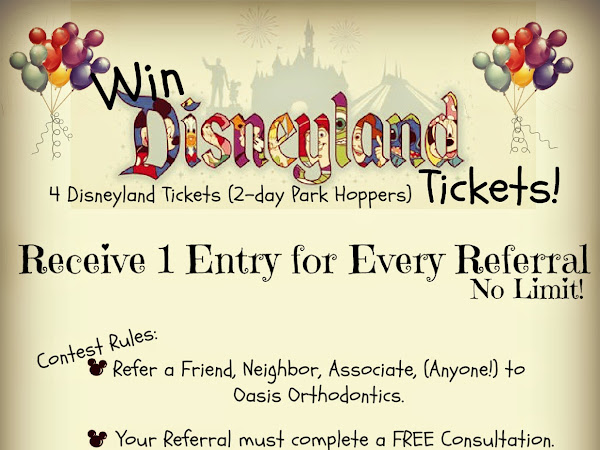 Win 4 Disneyland Tickets from Oasis Orthodontics!