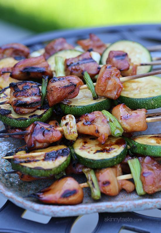 ... // Style Blog — Foodie Friday: Grilled Chicken + Zucchini Yakitori