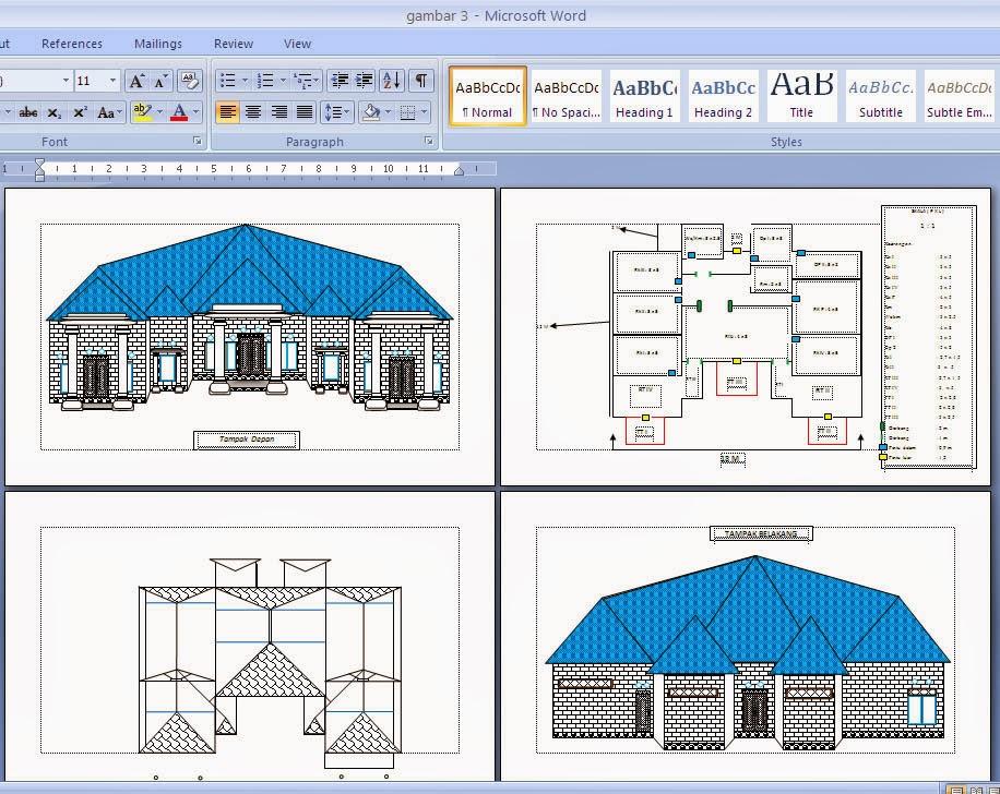 Cara Menggambar Desain Rumah Lewat Microsoft Office Word