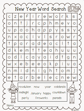 Creative Lesson Cafe: A New Year Word Search Freebie