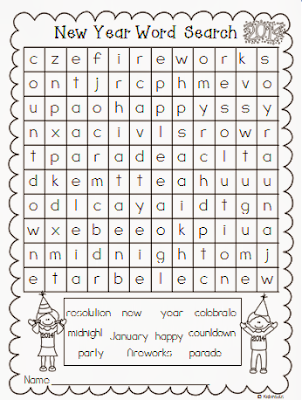 It's just a photo of Ambitious New Years Word Search Printable
