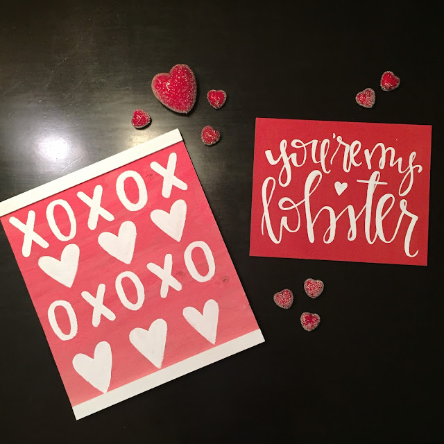 Handlettered Valentines Day Sign