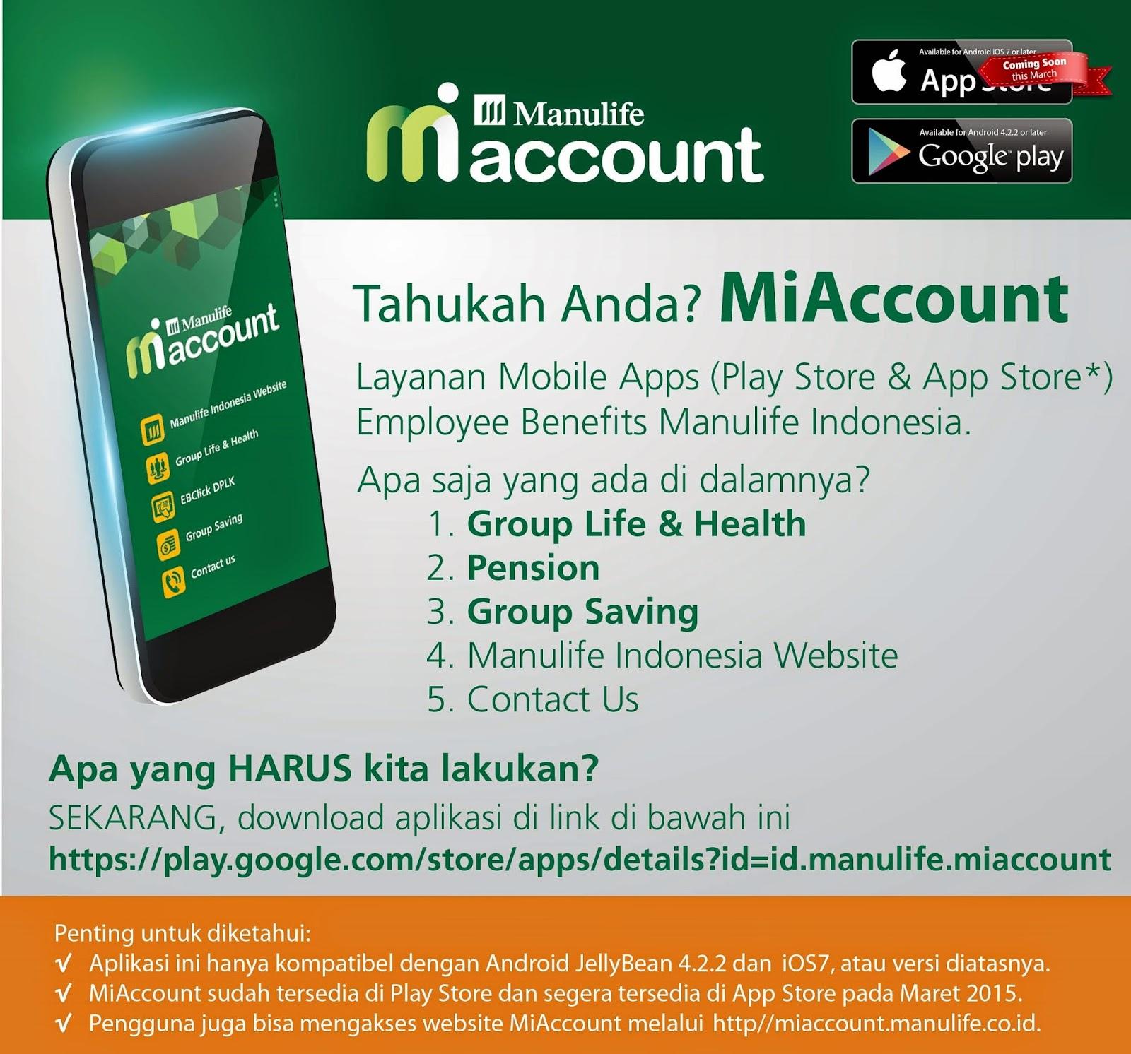 manulife health insurance indonesia  Asuransi Manulife Indonesia : Aplikasi MiAccount Untuk Nasabah ...