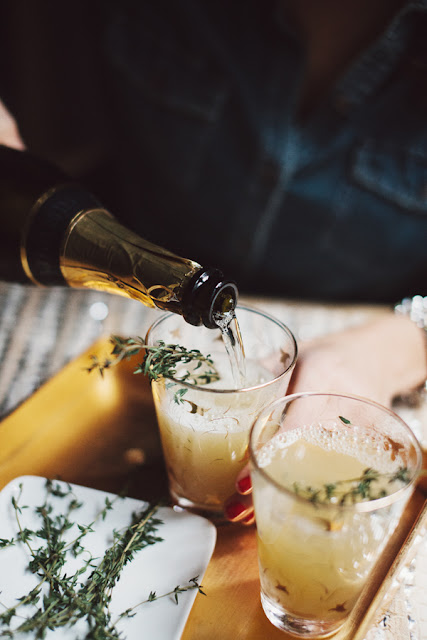 pear nectar and thyme mimosa