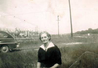 Clémentine Desgroseilliers in Blue Water Ontario 1948