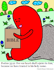 Jelly Bean Reading Bible Coloring Page