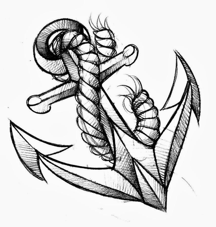 Inspiración de Tatuajes Anclas. Todos estos diseños te pueden servir para alcanzar tu idea definitiva del diseño que tu quieres tatuarte.