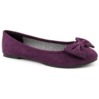 Emilio Luca  flat purple ballet flats with bow