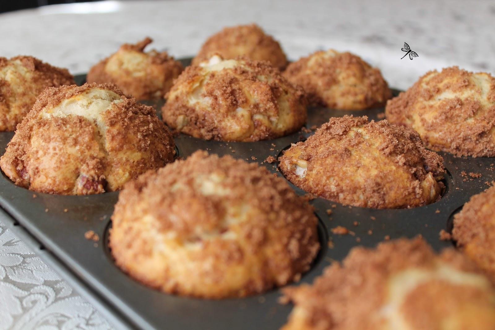 libellule et ses spatules muffins au babeurre aux pommes. Black Bedroom Furniture Sets. Home Design Ideas