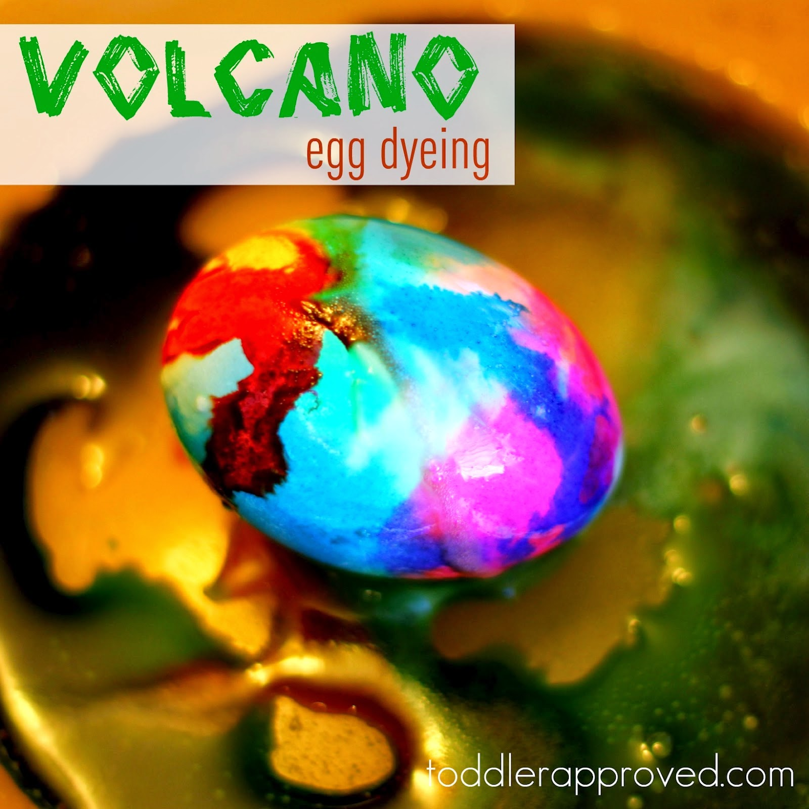 DIY Volcano Egg Dyeing