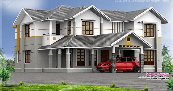Vastu Based Home With Double Height Living Room Kerala