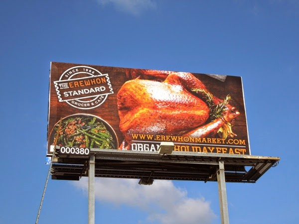 Erewhon organic turkey billboard