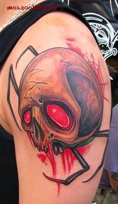 Fotos de tatuagens de aranha com caveiras legais