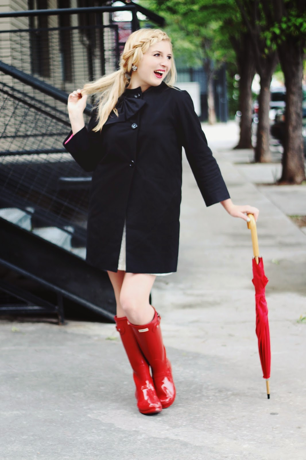 Red dress target umbrella