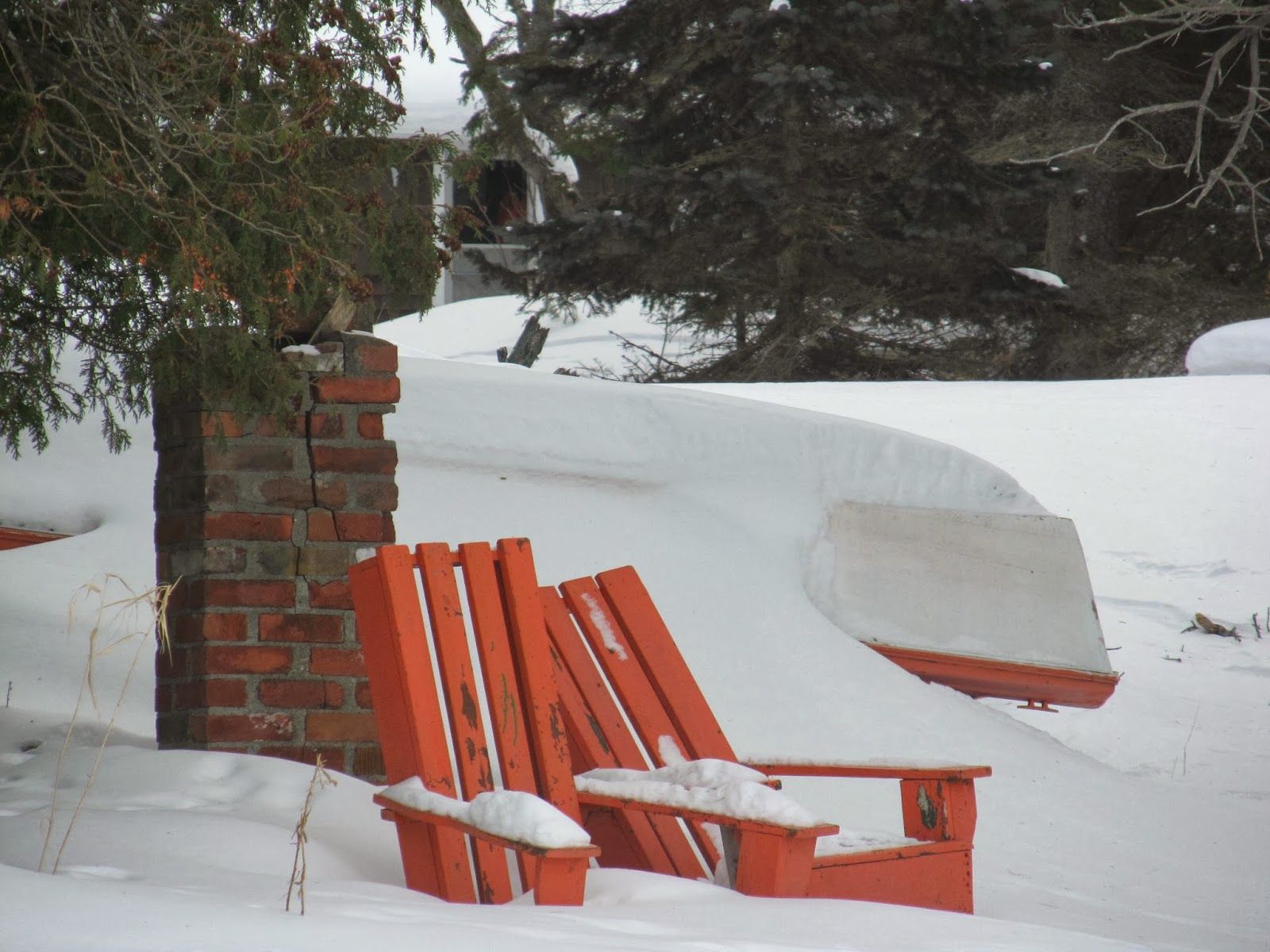 beach chair in winter